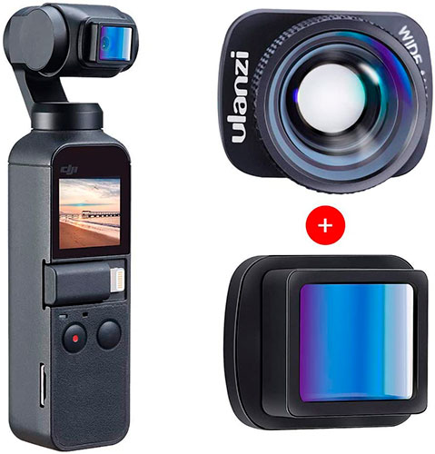 ULANZI for DJI OSMO Pocket: anamorphic and wide angle lenses