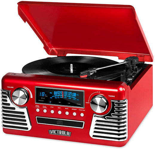 The Victrola 50`s retro Bluetooth Turntable